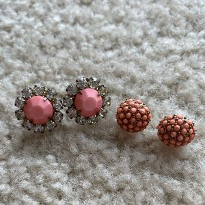 2 Sets of Coral Earrings